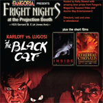 "Ethereal Chrysalis opening for ""The Black Cat"" As part of the Fright Nights at Projection Booth presented by Fangoria"